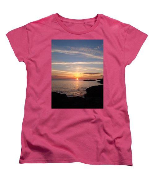 Women's T-Shirt (Standard Cut) featuring the photograph Rising Sun by Bonfire Photography