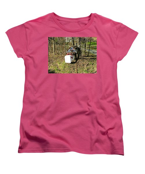 Women's T-Shirt (Standard Cut) featuring the photograph Scary Mailbox 3 by Sherman Perry
