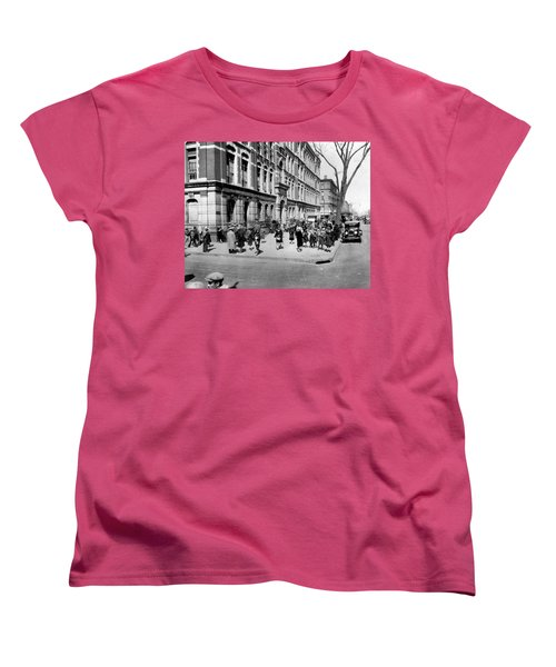 School's Out In Harlem Women's T-Shirt (Standard Cut) by Underwood Archives