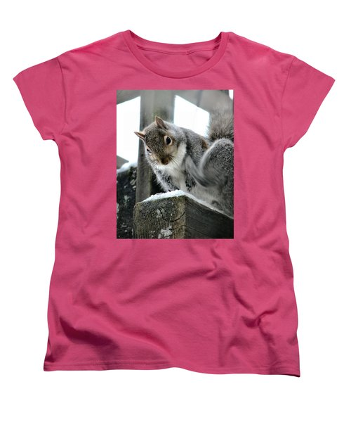 Women's T-Shirt (Standard Cut) featuring the photograph Scratching An Itch by Rory Sagner