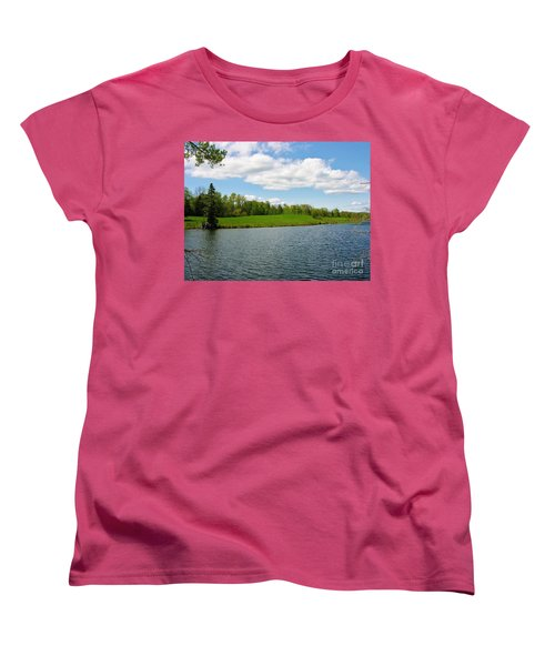 Women's T-Shirt (Standard Cut) featuring the photograph Sky And Water Almost Meet by Sherman Perry