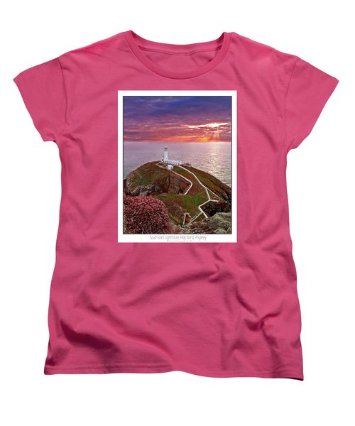 Women's T-Shirt (Standard Cut) featuring the photograph South Stack Lighthouse by Beverly Cash