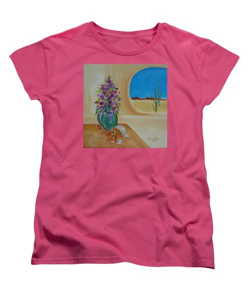 Women's T-Shirt (Standard Cut) featuring the painting Southwestern 3 by Judith Rhue