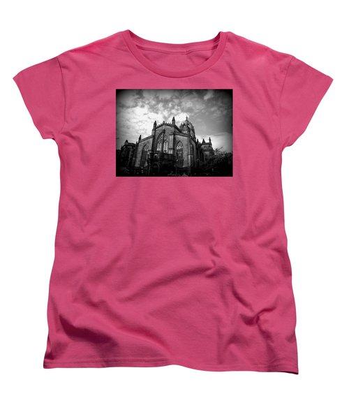 St Giles Cathedral Edinburgh Women's T-Shirt (Standard Cut) by Ian Kowalski