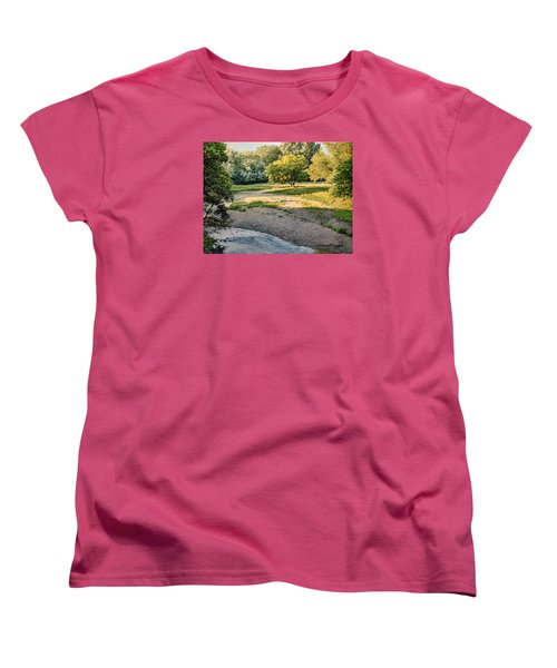 Summer Evening Along The Creek Women's T-Shirt (Standard Cut) by Bruce Morrison