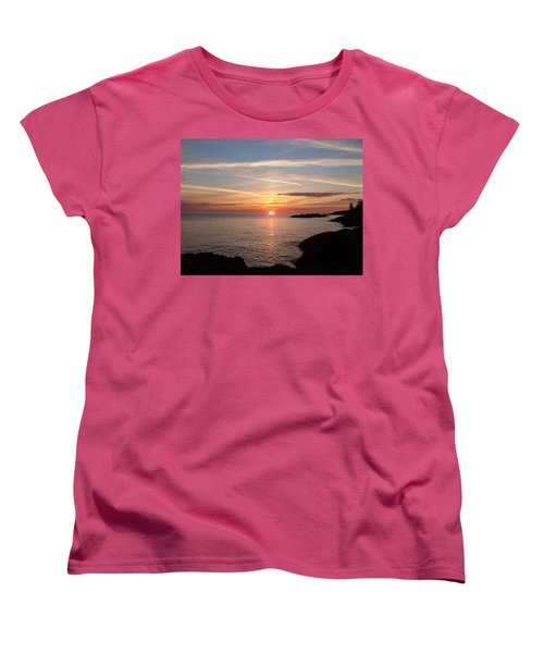 Women's T-Shirt (Standard Cut) featuring the photograph Sun Up On The Up by Bonfire Photography