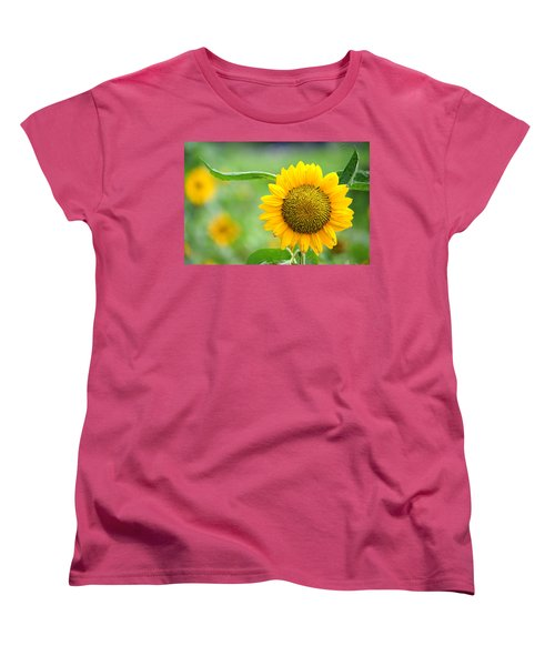 Women's T-Shirt (Standard Cut) featuring the photograph Sunflower by Yew Kwang