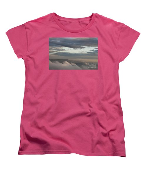 Women's T-Shirt (Standard Cut) featuring the photograph Sunrise In The Mountains by Jeannette Hunt