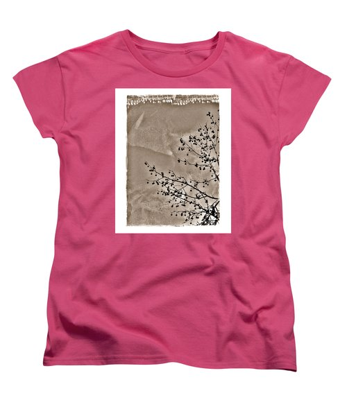 Sweetgum Sepia Women's T-Shirt (Standard Cut) by Judi Bagwell