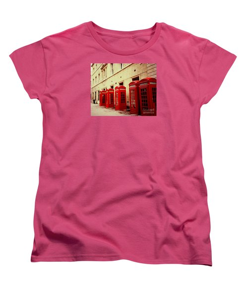 Telephone Booths Women's T-Shirt (Standard Cut) by Ranjini Kandasamy