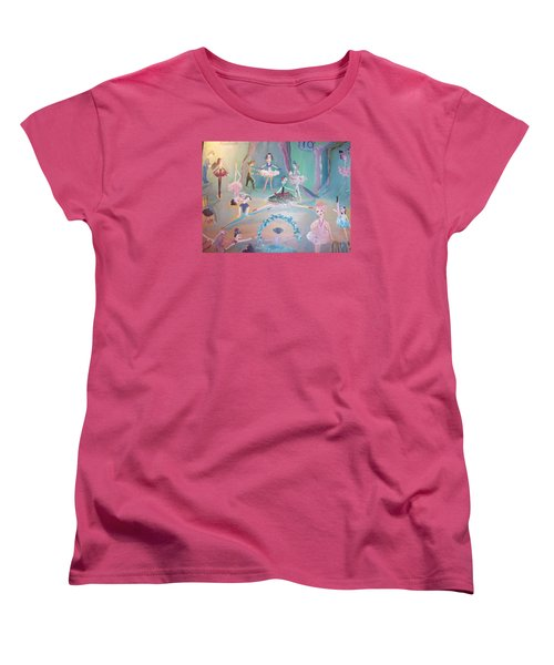 Women's T-Shirt (Standard Cut) featuring the painting The Ballet Contest by Judith Desrosiers