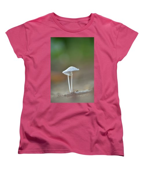 Women's T-Shirt (Standard Cut) featuring the photograph The Mushrooms by JD Grimes