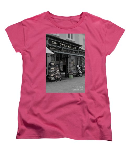 The Old Bookstore Women's T-Shirt (Standard Cut) by Mary Machare