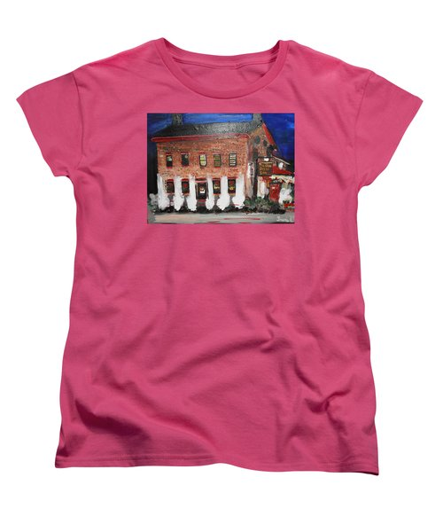 Women's T-Shirt (Standard Cut) featuring the painting The Olde Bryan Inn by Laurie L