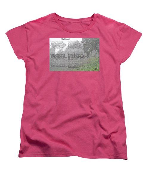 The Pinnacle Women's T-Shirt (Standard Cut) by Tikvah's Hope