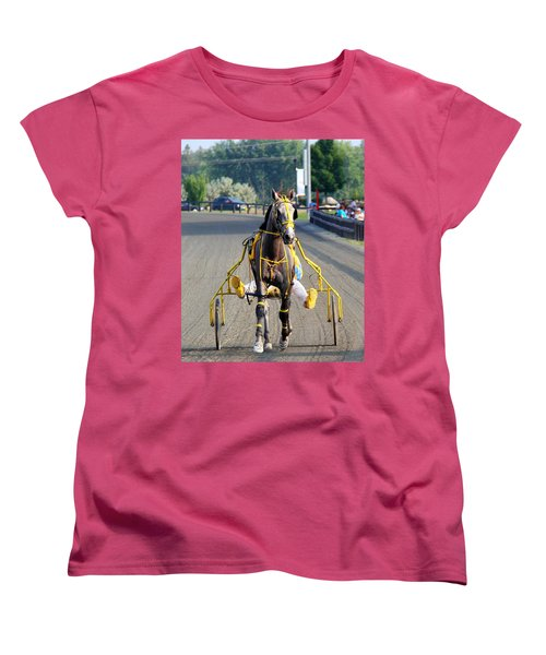 Women's T-Shirt (Standard Cut) featuring the photograph The Warm-up by Davandra Cribbie