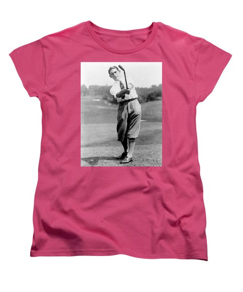 Women's T-Shirt (Standard Cut) featuring the photograph Tom Armour Wins Us Golf Title - C 1927 by International  Images