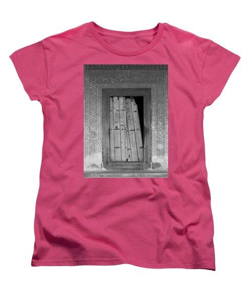 Women's T-Shirt (Standard Cut) featuring the photograph Tomb Door by David Pantuso