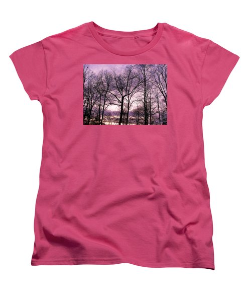 Women's T-Shirt (Standard Cut) featuring the photograph Trees In Glorious Calm by Pamela Hyde Wilson