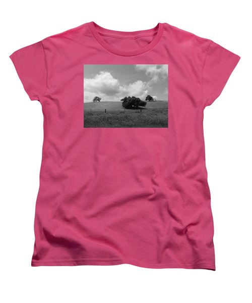 Women's T-Shirt (Standard Cut) featuring the photograph Trees On The Hillrise by Kathleen Grace