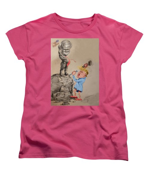 Trump Shaping Up The Future Women's T-Shirt (Standard Cut) by Ylli Haruni