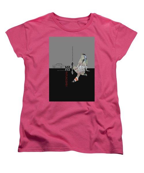 U2 Poster Women's T-Shirt (Standard Cut) by Naxart Studio