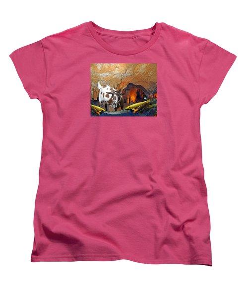 Underground Swim Women's T-Shirt (Standard Cut) by Lynda Lehmann