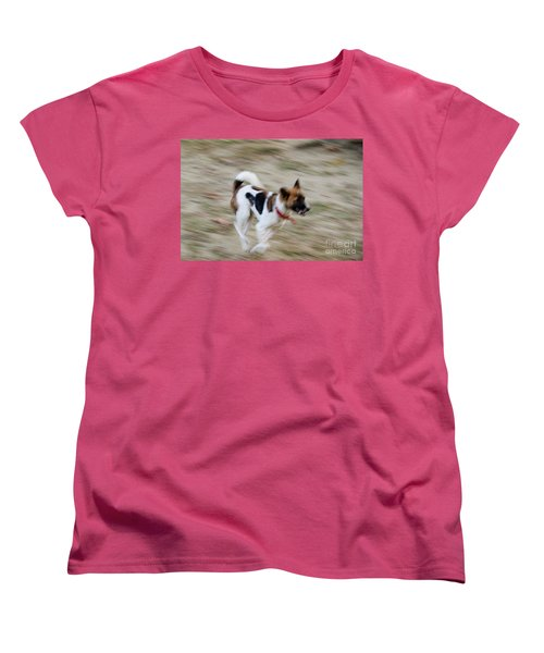 Women's T-Shirt (Standard Cut) featuring the photograph Unleashed by Fotosas Photography