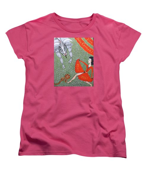 Women's T-Shirt (Standard Cut) featuring the painting Viva Dona Carmen by Marie Schwarzer