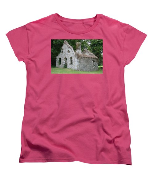 Women's T-Shirt (Standard Cut) featuring the photograph Walls For The Winds by Charlie and Norma Brock