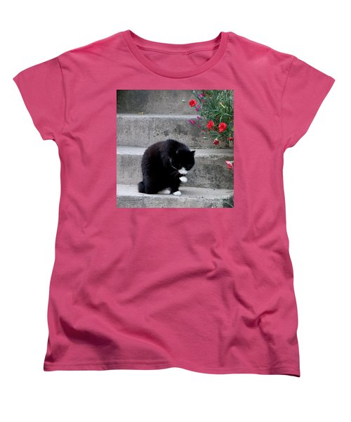 Women's T-Shirt (Standard Cut) featuring the photograph Washing Up by Lainie Wrightson