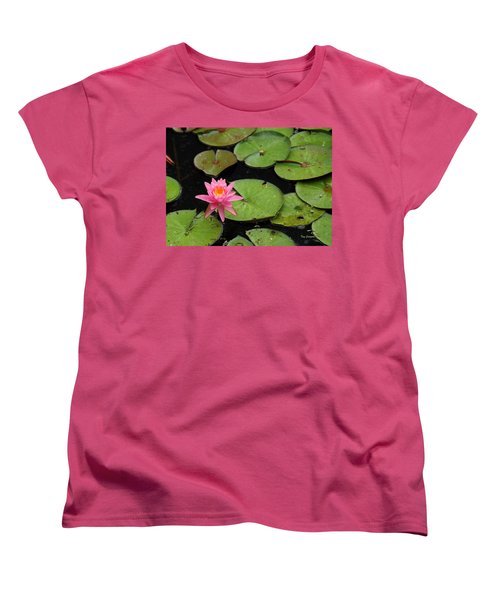 Women's T-Shirt (Standard Cut) featuring the photograph Water Lily by Kay Lovingood