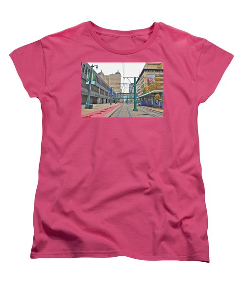 Women's T-Shirt (Standard Cut) featuring the photograph Welcome To Dt Buffalo by Michael Frank Jr