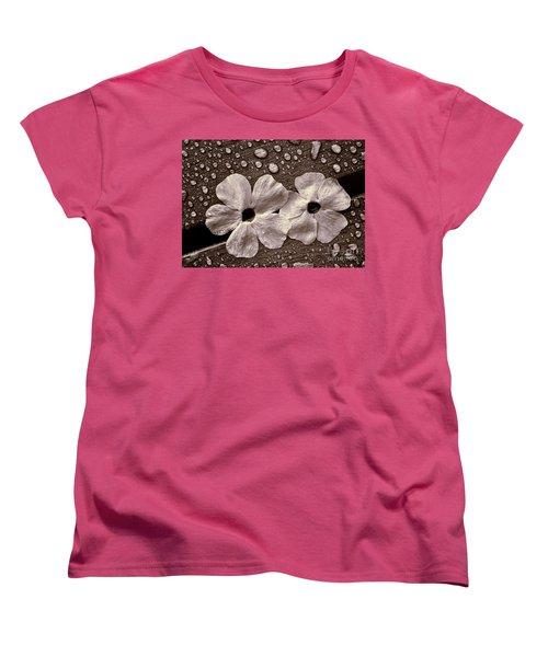 Wet Flowers And Wet Table Women's T-Shirt (Standard Cut)
