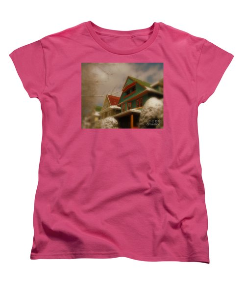 Winter On Rugby Road Women's T-Shirt (Standard Cut) by Mark Gilman