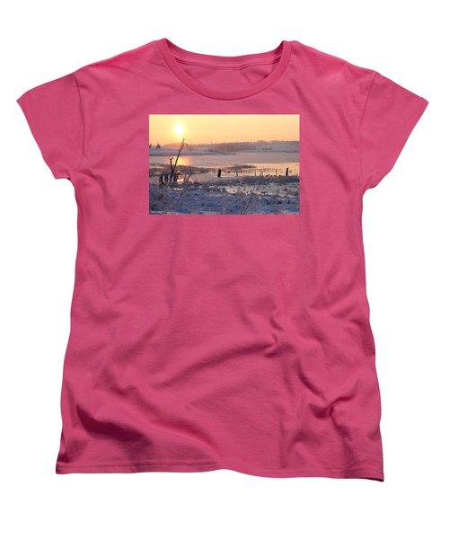 Women's T-Shirt (Standard Cut) featuring the photograph Winter's Morning by Elizabeth Winter