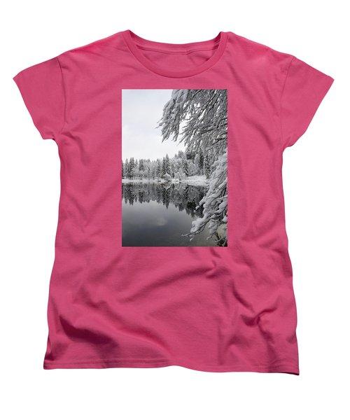 Wintery Reflections Women's T-Shirt (Standard Cut)