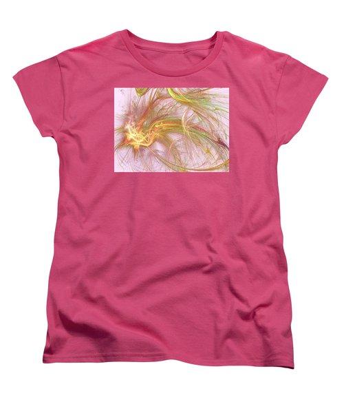 Women's T-Shirt (Standard Cut) featuring the digital art Wispy Willow by Kim Sy Ok