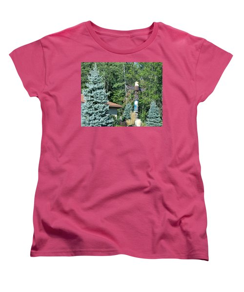 Yard Totem Women's T-Shirt (Standard Cut) by Pamela Walrath