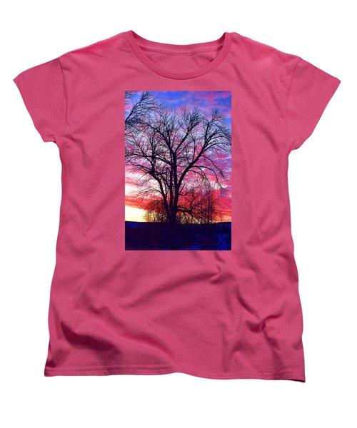 Women's T-Shirt (Standard Cut) featuring the photograph -11 Sunrise by Dacia Doroff