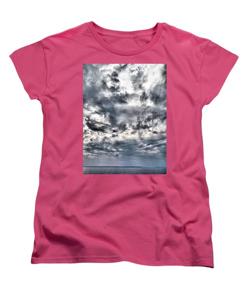 Women's T-Shirt (Standard Cut) featuring the photograph  Mental Seaview by Jouko Lehto