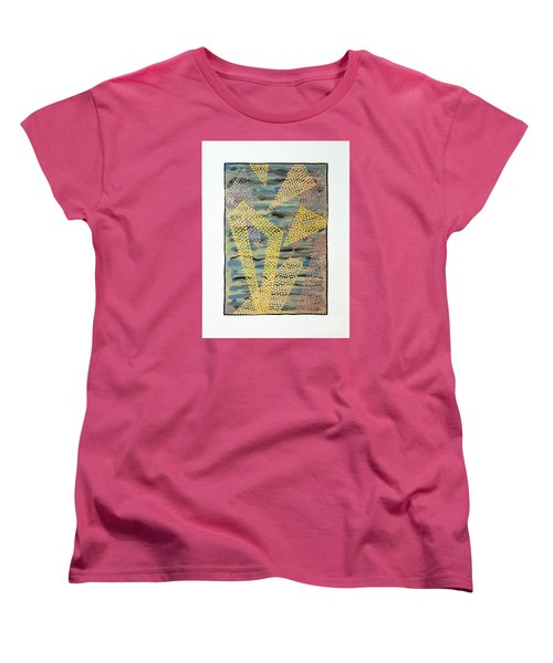 01333 Left Women's T-Shirt (Standard Cut) by AnneKarin Glass