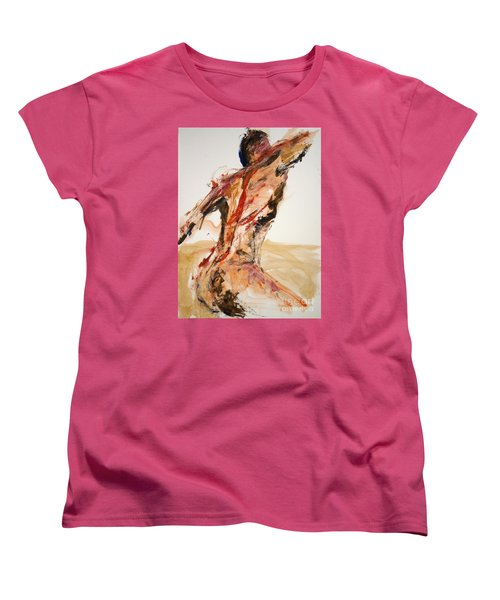04861 Letting Go Women's T-Shirt (Standard Cut) by AnneKarin Glass