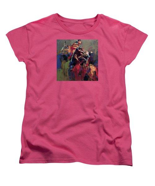 062 Jima Marine Memorial Washington Dc Women's T-Shirt (Standard Cut) by Maryam Mughal