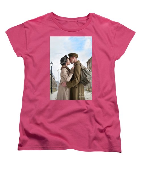 1940s Lovers Women's T-Shirt (Standard Cut) by Lee Avison
