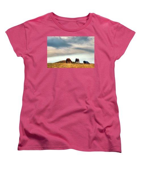 A Palouse Landscape Women's T-Shirt (Standard Cut) by David Patterson