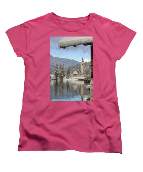 Women's T-Shirt (Standard Cut) featuring the photograph Alpine Winter Clarity by Ian Middleton
