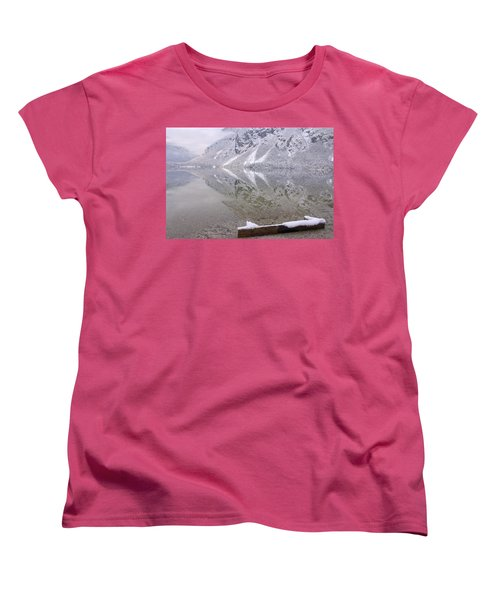 Women's T-Shirt (Standard Cut) featuring the photograph Alpine Winter Reflections by Ian Middleton