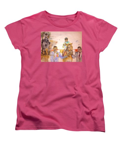 Women's T-Shirt (Standard Cut) featuring the painting American Pharaoh Abum by Debbi Saccomanno Chan