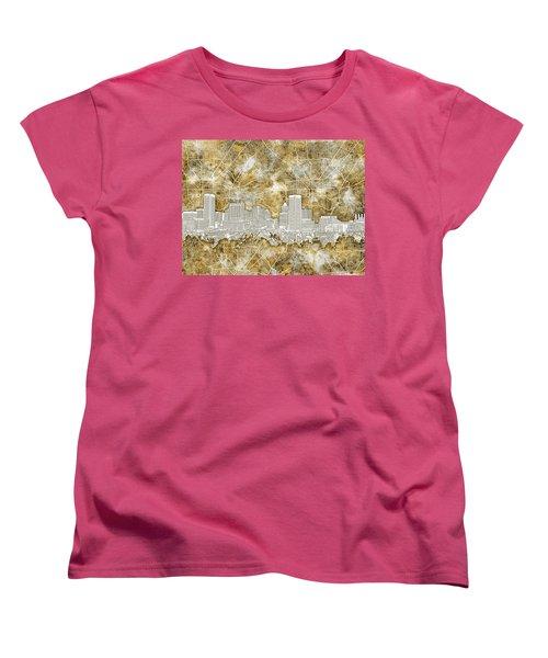 Women's T-Shirt (Standard Cut) featuring the painting Baltimore Skyline Watercolor 13 by Bekim Art